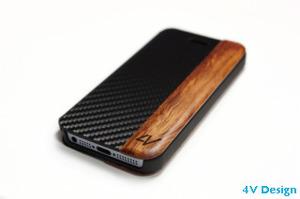 4V Design - Master - Custodia per iphone in Legno e Carbonio