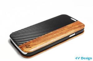 4V Design - Master - Custodia per Galaxy S4 in Legno e Carbonio
